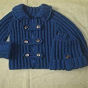 """Работы для детей, ручной работы. Ярмарка Мастеров - ручная работа Кофта для мальчика """"Синий кардиган"""". Handmade."""