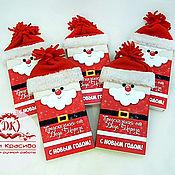 Цветы и флористика handmade. Livemaster - original item Christmas shokoboks Podarochny chocolate _ Santa Claus chocolate. Handmade.