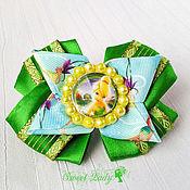 Работы для детей, ручной работы. Ярмарка Мастеров - ручная работа Детские бантики на резинке Фея Динь Динь, бантики для девочки. Handmade.