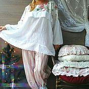 Одежда ручной работы. Ярмарка Мастеров - ручная работа Пижама в стиле Шебби. Большой размер.. Handmade.