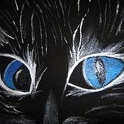 """Одежда ручной работы. Ярмарка Мастеров - ручная работа Футболка """"Призрачный кот"""". Handmade."""