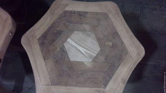 Мебель ручной работы. Ярмарка Мастеров - ручная работа. Купить табурет с наборным сиденьем из массива. Handmade. Табурет, сосна