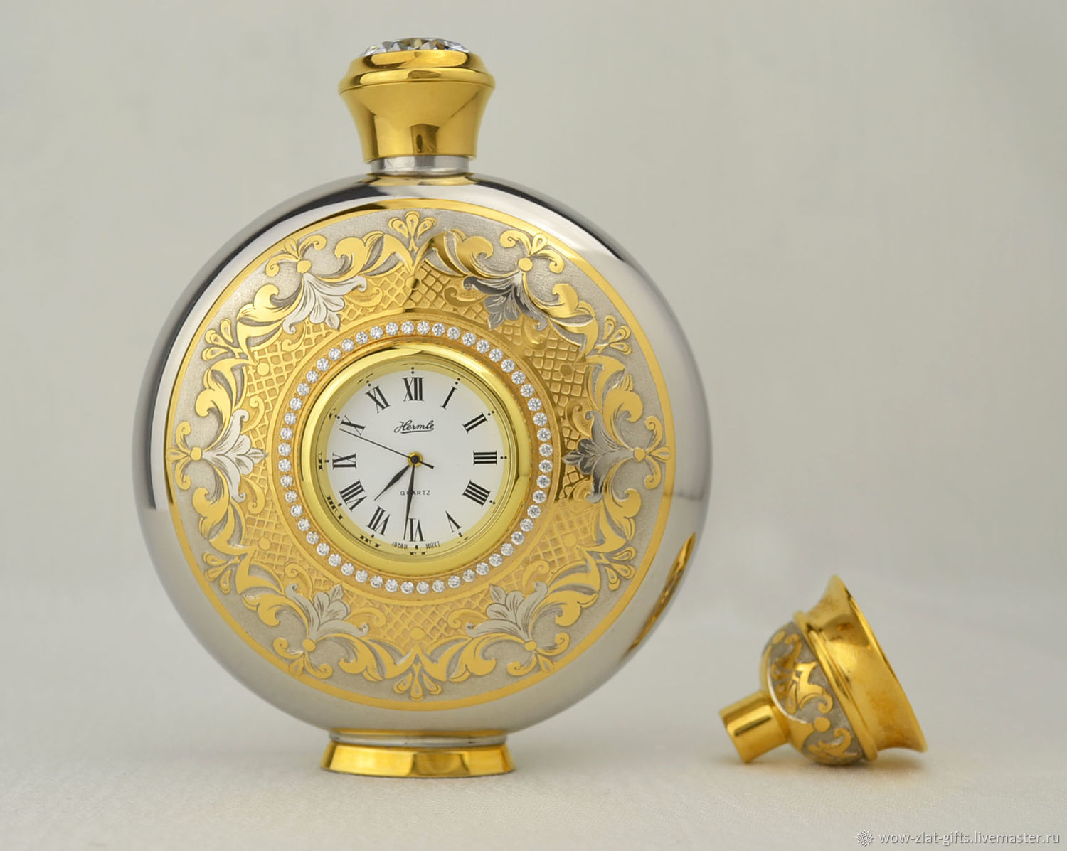 A FLASK WITH A CLOCK (ZLATOUST), Flask, Chrysostom,  Фото №1