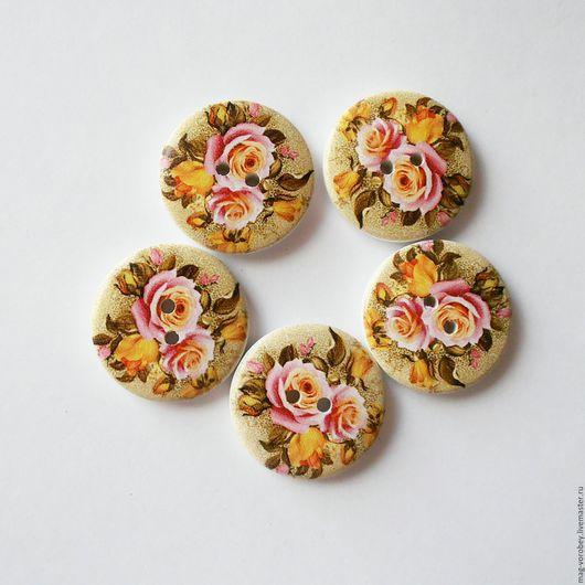 Шитье ручной работы. Ярмарка Мастеров - ручная работа. Купить Пуговицы Цветы. Handmade. Комбинированный, цветы, пуговицы, пуговицы декоративные