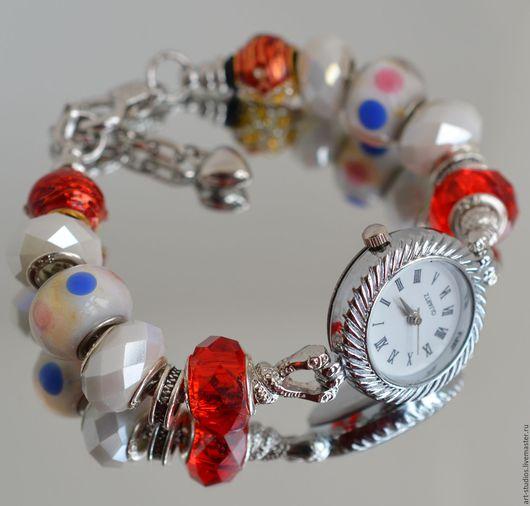 Часы ручной работы. Ярмарка Мастеров - ручная работа. Купить Часы с браслетом в европейском стиле.. Handmade. Подарок, часы кварцевые