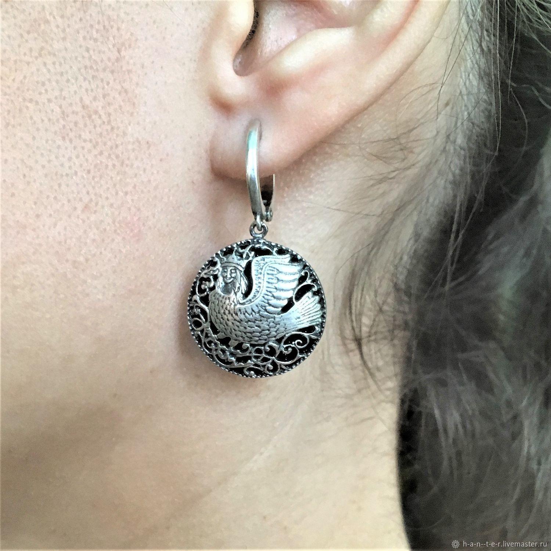 The Firebird earrings, Earrings, Kostroma,  Фото №1