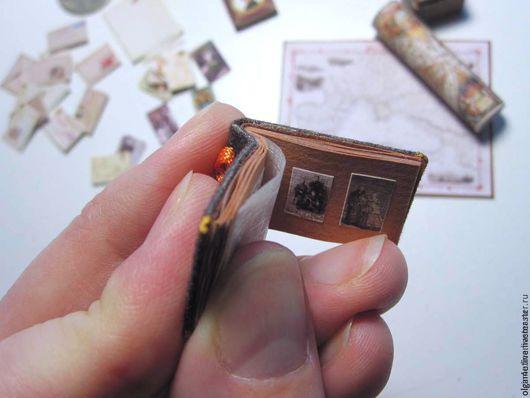 Миниатюра ручной работы. Ярмарка Мастеров - ручная работа. Купить Мини-фотоальбом, мини-фоторамка. Handmade. Комбинированный