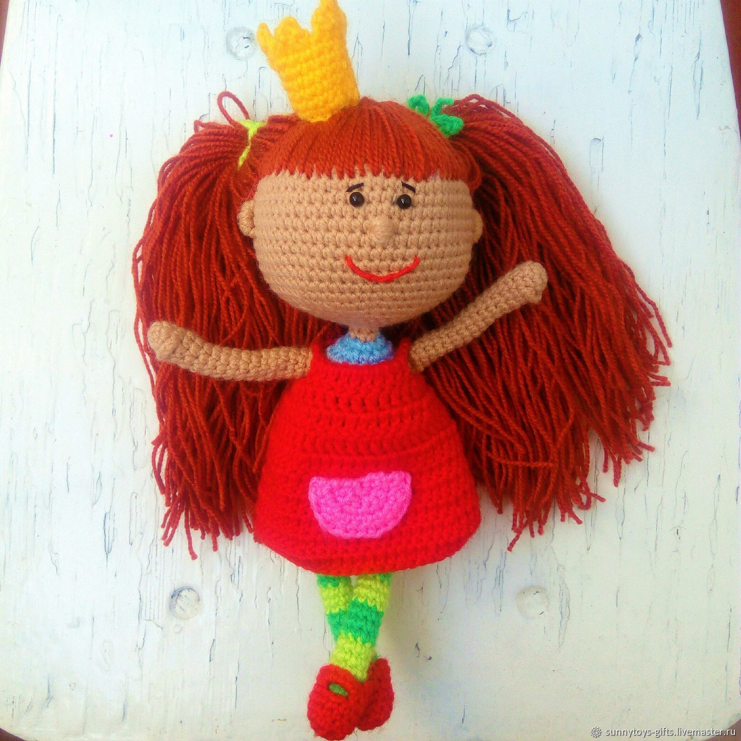 Knitted Princess doll from the cartoon, Stuffed Toys, Berezovsky,  Фото №1