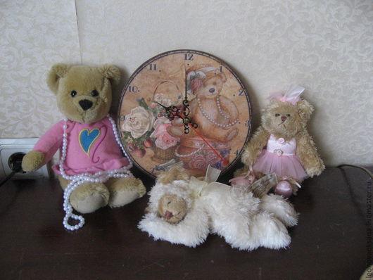 """Часы для дома ручной работы. Ярмарка Мастеров - ручная работа. Купить Часы """"Для доченьки"""". Handmade. Часы, мишка"""