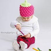 Работы для детей, ручной работы. Ярмарка Мастеров - ручная работа Детская шапочка Малинка. Handmade.