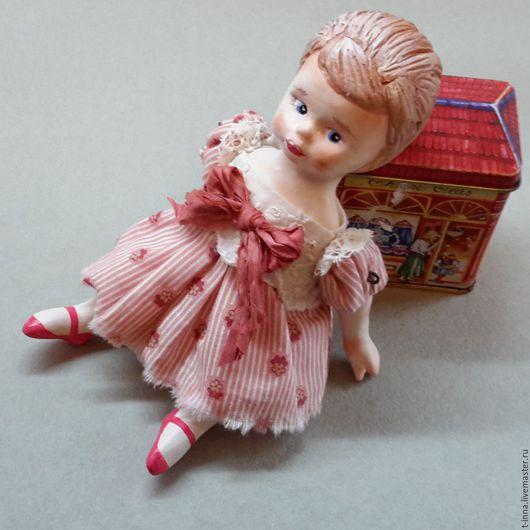 Коллекционные куклы ручной работы. Ярмарка Мастеров - ручная работа. Купить Куколка болтушка Зиночка. Handmade. Коралловый, кукла интерьерная