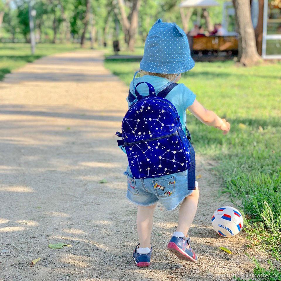 Детский рюкзак из хлопка Созвездия, размер S, Сумки, Магнитогорск, Фото №1