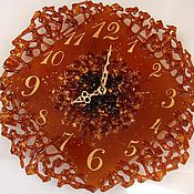 Для дома и интерьера handmade. Livemaster - original item Gold rush glass clock, wall decor fusing. Handmade.