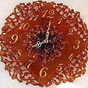 Для дома и интерьера handmade. Livemaster - original item Gold rush glass clock, wall decor fusing. Handmade.