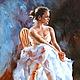 Люди, ручной работы. Картина маслом «Балерина. Минуты отдыха» Копия работы Stephen. Сообщество художников LegacyArt. Интернет-магазин Ярмарка Мастеров.
