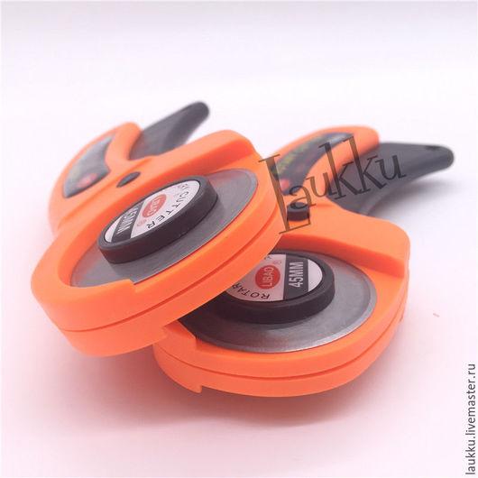 Шитье ручной работы. Ярмарка Мастеров - ручная работа. Купить Роликовый резак. Handmade. Оранжевый, круговой нож
