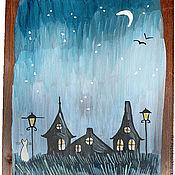 Картины и панно ручной работы. Ярмарка Мастеров - ручная работа Картина Звёздная ночь. Handmade.