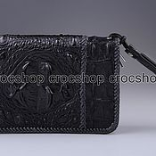 Сумки и аксессуары handmade. Livemaster - original item Clutch bag in crocodile leather with two zippers IMA0692B1. Handmade.