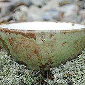 """Посуда ручной работы. Ярмарка Мастеров - ручная работа Пиала """"Зеленый мох"""". Handmade."""