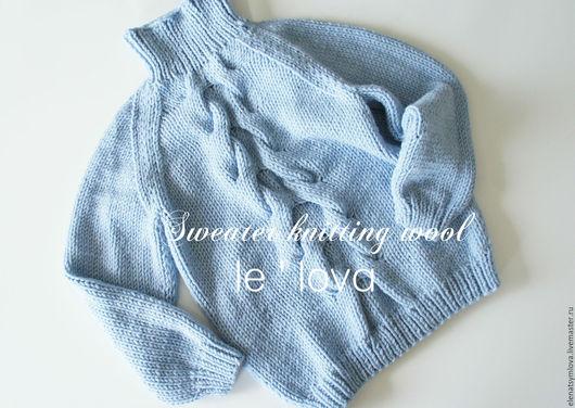 Кофты и свитера ручной работы. Ярмарка Мастеров - ручная работа. Купить Уютный мягкий свитер голубого цвета. Handmade. Голубой