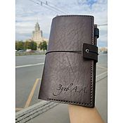 handmade. Livemaster - original item Leather brown Notepad with personalization. Handmade.