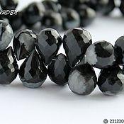 Материалы для творчества handmade. Livemaster - original item Obsidian Snow Briolet    ( CAUCASUS) (163). Handmade.