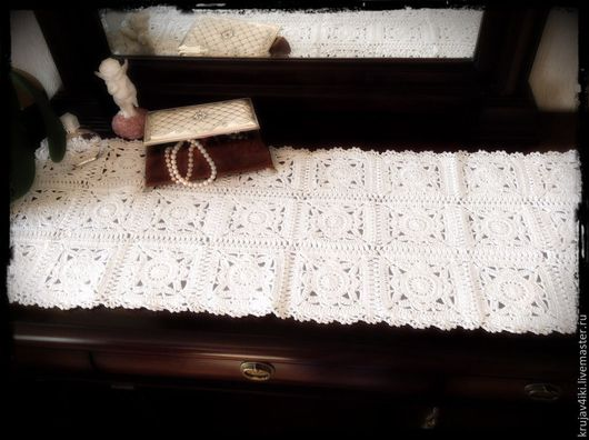 Текстиль, ковры ручной работы. Ярмарка Мастеров - ручная работа. Купить Вязаная салфетка. Handmade. Белый, Салфетка вязаная
