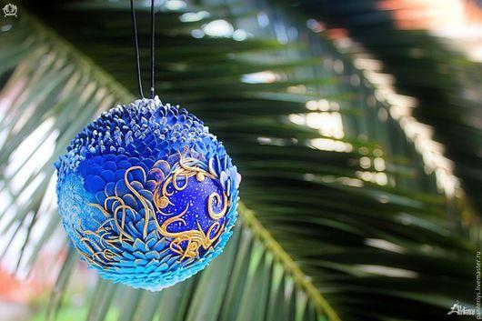 Новый год 2017 ручной работы. Ярмарка Мастеров - ручная работа. Купить Новогодний шар. Handmade. Комбинированный, шар на елку