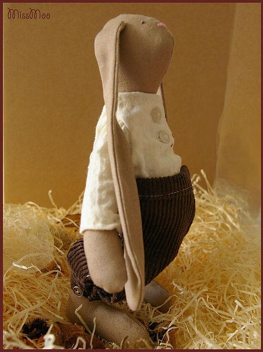 Куклы Тильды ручной работы. Ярмарка Мастеров - ручная работа. Купить Карл. Handmade. Текстильная игрушка, игрушка заяц, хлопок