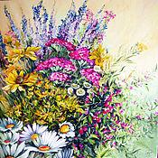"""Картины и панно ручной работы. Ярмарка Мастеров - ручная работа Картина маслом """" Цветы на Троицу"""". Handmade."""