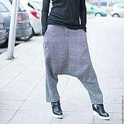 Одежда handmade. Livemaster - original item Loose wool pants for spring/autumn - PA0753WL. Handmade.