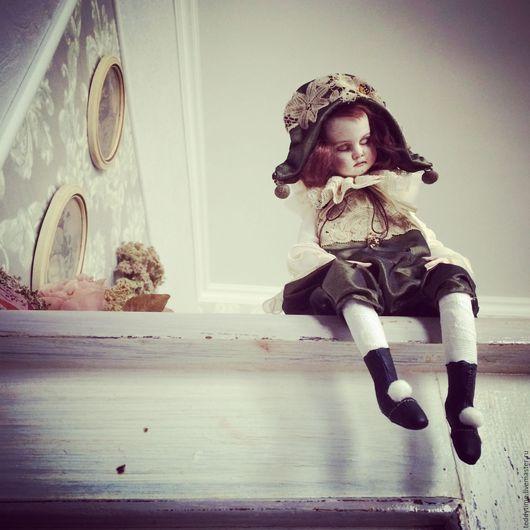 Авторская кукла. Авторские работы Марии Морозовой. Театр дель Арте. Театр масок. Пьеретта на заказ.