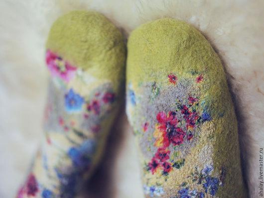 Носки, Чулки ручной работы. Ярмарка Мастеров - ручная работа. Купить Носки из войлока ручной работы. Handmade. Носки шерстяные