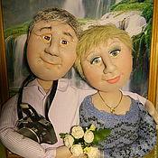 Куклы и игрушки ручной работы. Ярмарка Мастеров - ручная работа Подарок любящей паре Куклы по фото. Handmade.