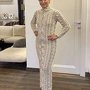 Одежда handmade. Livemaster - original item Italian Merino dress by Loro Piana and lurex. Handmade.