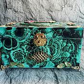 Для дома и интерьера handmade. Livemaster - original item The malachite casket. Handmade.