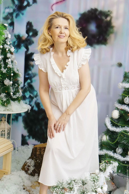 1a432d9132ee Ночная сорочка рубашка из батиста, сорочка Ларочка – купить в  интернет-магазине ...