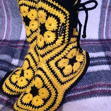 Обувь ручной работы. Ярмарка Мастеров - ручная работа Тапочки - сапожки для дома.. Handmade.