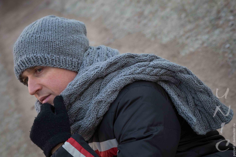 шапка шарф мужской вязаные комплект мужской шеммшелдон купить в