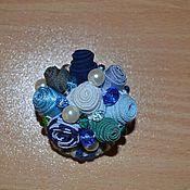 Украшения handmade. Livemaster - original item Brooch Dream about the sea blue blue friform. Handmade.