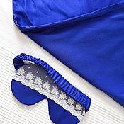 Для дома и интерьера handmade. Livemaster - original item Gray Night set :silk pillowcase and sleep mask. Handmade.