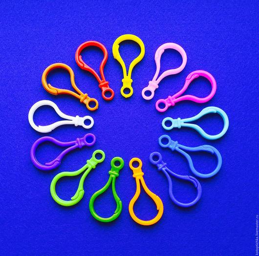 Шитье ручной работы. Ярмарка Мастеров - ручная работа. Купить Карабин большой 13 цветов. Handmade. Разноцветный, пластиковые карабины