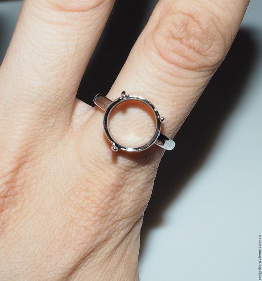 """Для украшений ручной работы. Ярмарка Мастеров - ручная работа. Купить Основа для кольца """"Алиса""""(12 мм) - серебрение 925 пробы. Handmade."""
