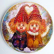 Картины и панно ручной работы. Ярмарка Мастеров - ручная работа Счастье в дом Панно деревянное круглое. Handmade.