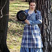 Одежда ручной работы. Ярмарка Мастеров - ручная работа Платье Тиффани Болит (голубое). Handmade.
