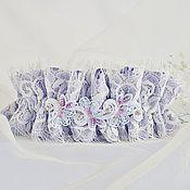 """Свадебный салон ручной работы. Ярмарка Мастеров - ручная работа Подвязка для невесты """"Эльза"""". Handmade."""