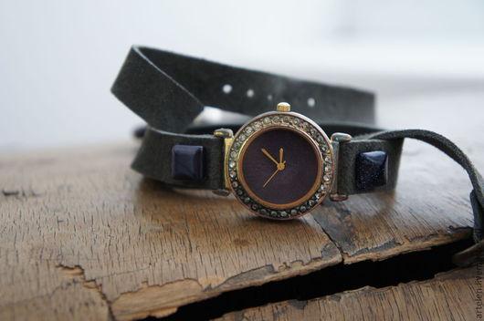"""Часы ручной работы. Ярмарка Мастеров - ручная работа. Купить Часики """"Авантюрин"""". Handmade. Часы женские, часики, часики наручные"""