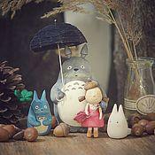 Куклы и игрушки ручной работы. Ярмарка Мастеров - ручная работа Мой сосед Тоторо. Деревянные игрушки.. Handmade.