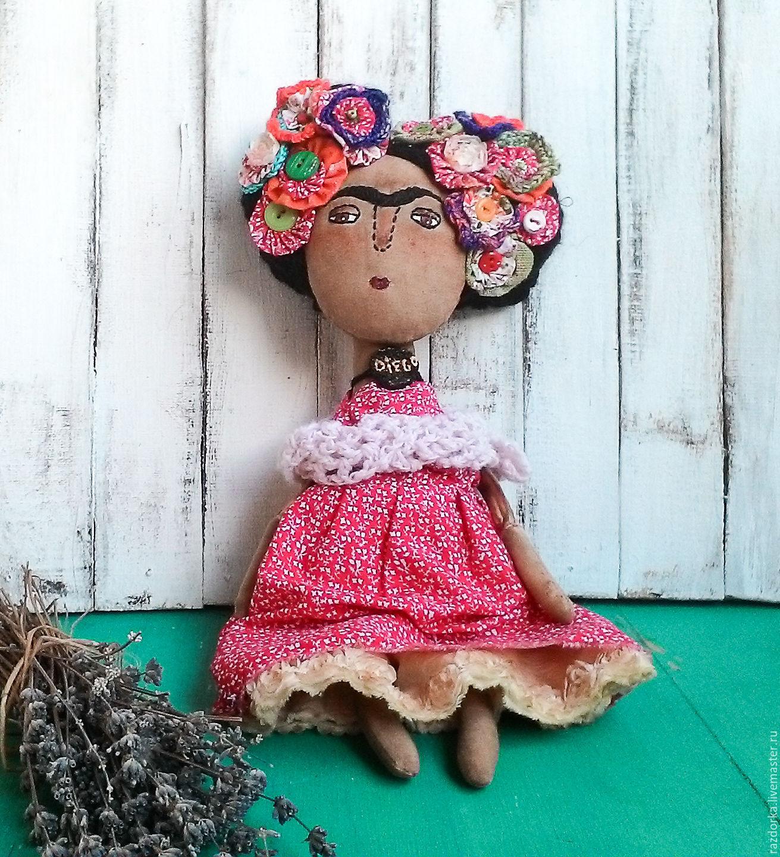 Frida, Frida Kahlo, buy Frida doll, Frida and Diego , to buy an author's doll handmade doll handmade buy, buy interior doll handmade dolls handmade