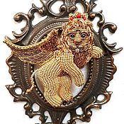 Украшения handmade. Livemaster - original item Winged lion of Venice. Brooch. Handmade.